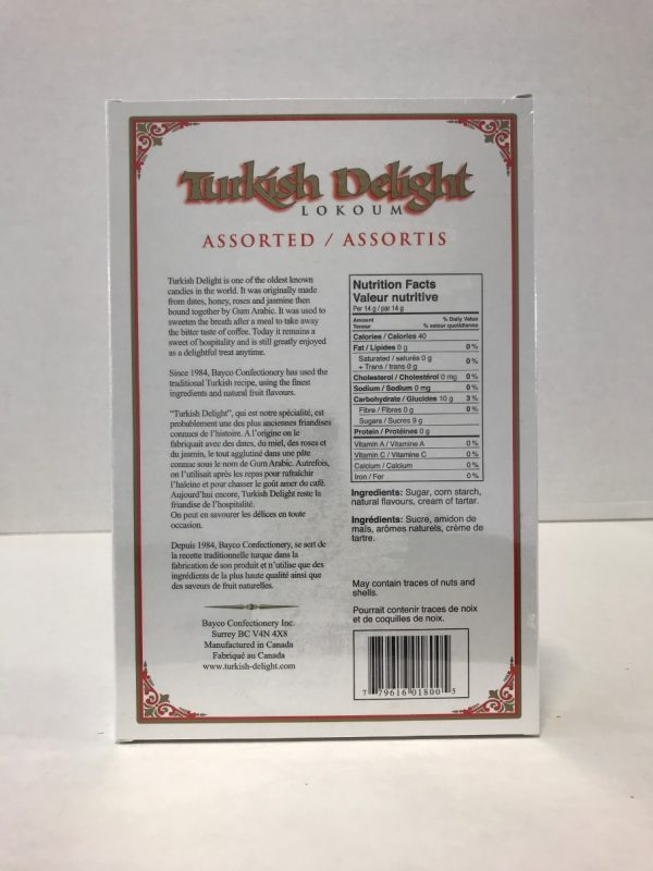Turkish Delight - Assorted Fruit flavours