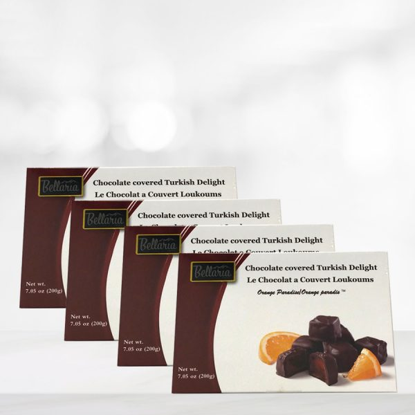 chocolate covered orange turkish delight gift boxes