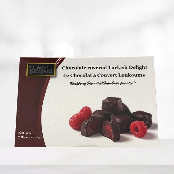 chocolate covered raspberry turkish delight gift box