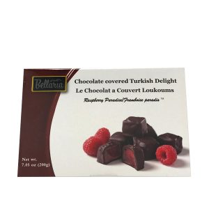 chocolate covered raspberry turkish delight gift box white