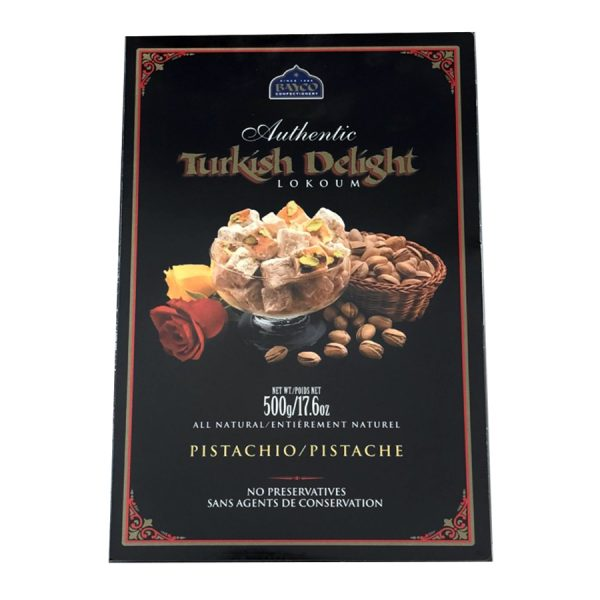 pistachio turkish delight 500g box white
