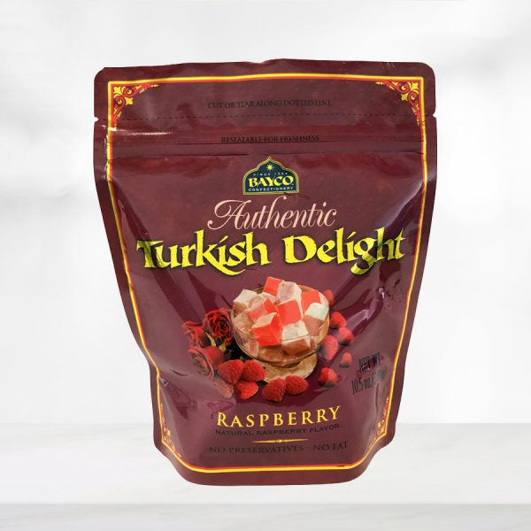 raspberry turkish delight pouch