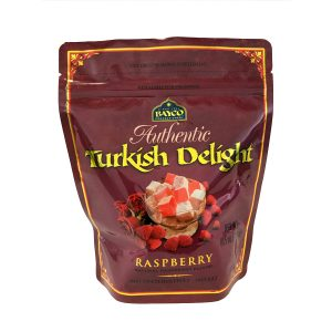 raspberry turkish delight pouch white