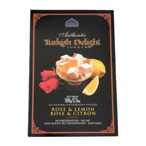 rose lemon turkish delight box