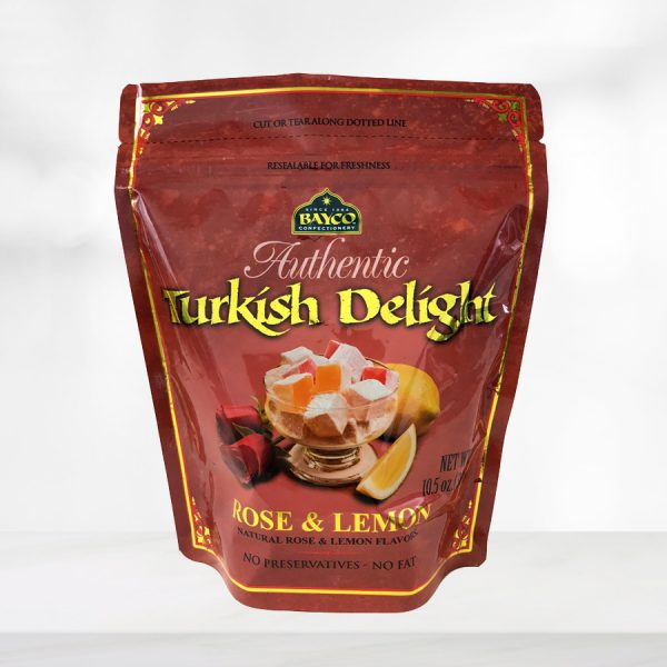 rose lemon turkish delight pouch
