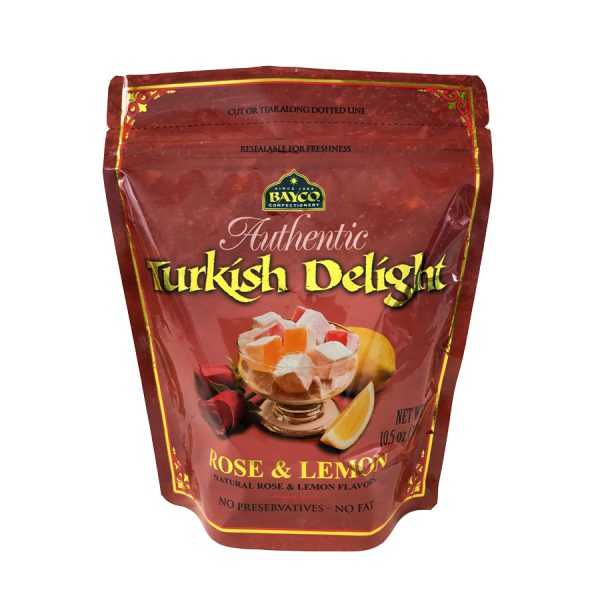 rose lemon turkish delight pouch white