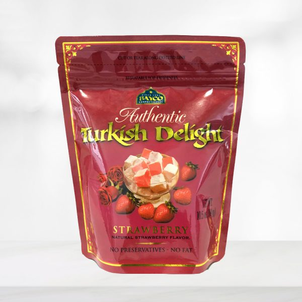 strawberry turkish delight pouch